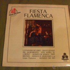 Discos de vinilo: FIESTA FLAMENCA, TREBOL 1970. SERIE 10.000 GRAN DIFUSION. Lote 45089615