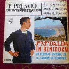 Discos de vinilo: JOSE MARIA DALDA - EL CAPITAN + 3 (EP DE 4 CANCIONES) PHILLIPS 1965. Lote 45096482