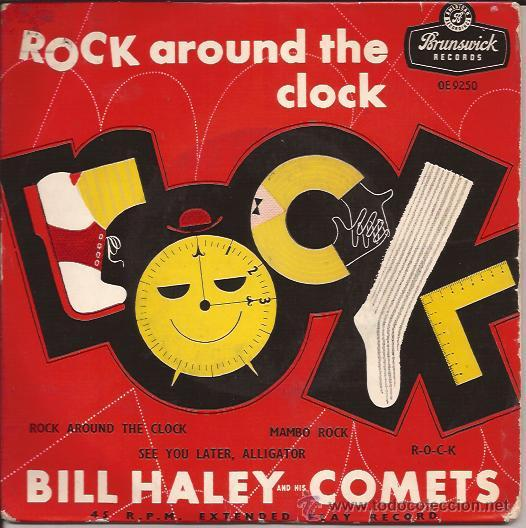EP-BILL HALEY ROCK AROUND THE CLOCK-BRUNSWICK 9250-UK 1957-ROCK & ROLL (Música - Discos de Vinilo - EPs - Rock & Roll)