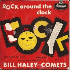 Discos de vinilo: EP-BILL HALEY ROCK AROUND THE CLOCK-BRUNSWICK 9250-UK 1957-ROCK & ROLL. Lote 45098613