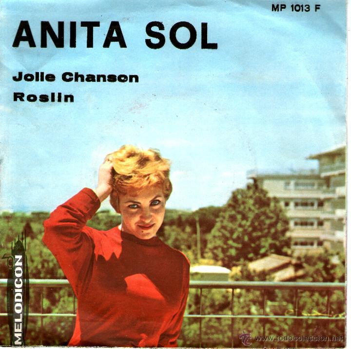 ANITA SOL-JOLLE CHANSON MUY RARO (Música - Discos - Singles Vinilo - Canción Francesa e Italiana)