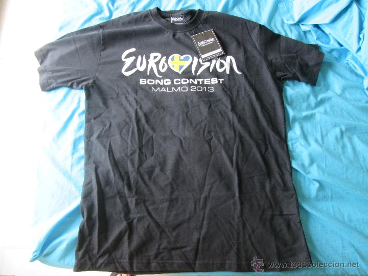 CAMISETA OFICIAL FESTIVAL DE EUROVISION SUECIA MALMÖ 2013 NUEVA CON ETIQUETA TALLA S (Música - Discos de Vinilo - Maxi Singles - Festival de Eurovisión)