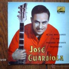 Discos de vinilo: JOSE GUARDIOLA - EL DÍA MÁS LARGO + 3. Lote 45116297