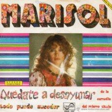 Discos de vinilo: MARISOL, SG, QUEDATE A DESAYUNAR + 1, AÑO 1973. Lote 45116534