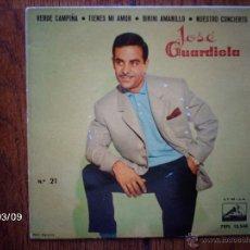 Discos de vinilo: JOSE GUARDIOLA - VERDE CAMPIÑA + 3. Lote 45116561