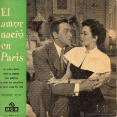 Discos de vinil: B. S. O. EL AMOR NACIO EN PARIS, EP, MARGE Y GOWER CHAMPION -- I WON´T DANCE + 3, AÑO 1959. Lote 45116675
