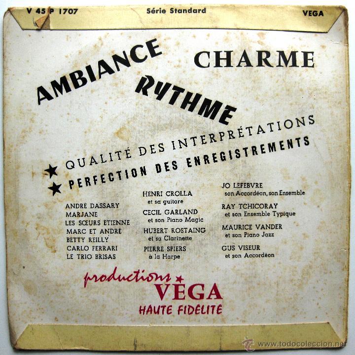 Discos de vinilo: Henri Crolla - Quatre Airs De Paris - EP Vega 195? Francia BPY - Foto 2 - 45118895