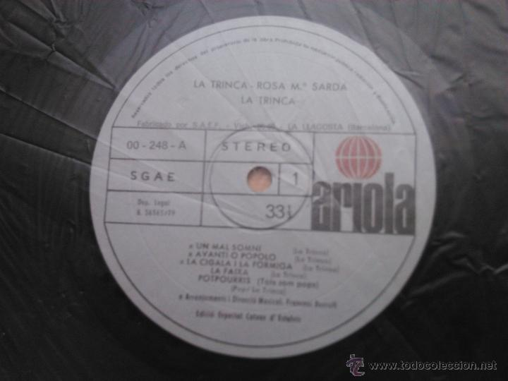 Discos de vinilo: L.P.: LA TRINCA - ROSA Mª SARDÀ - ARIOLA,1979 - - Foto 5 - 28632443
