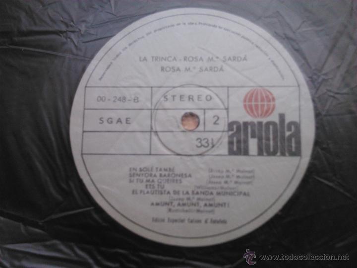 Discos de vinilo: L.P.: LA TRINCA - ROSA Mª SARDÀ - ARIOLA,1979 - - Foto 6 - 28632443