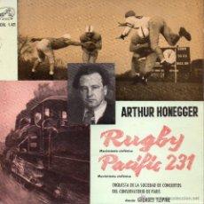 Dischi in vinile: ORQUESTA DE LA SOCIEDAD DE CONCIERTOS DE PARIS - ARTHUR HONEGGER, EP, RUGBY + 1, AÑO 1961. Lote 45123380