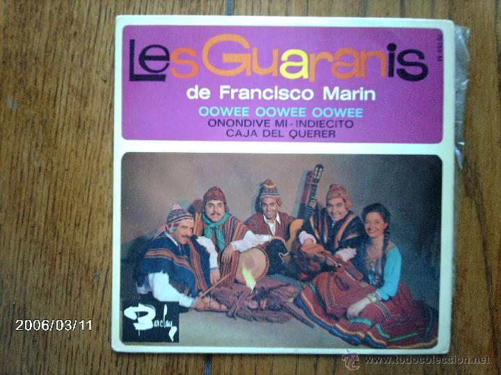 LES GUARANIS DE FRANCISCO MARIN - OOWEE OOWEE OOWEE + 3 (Música - Discos de Vinilo - EPs - Grupos y Solistas de latinoamérica)