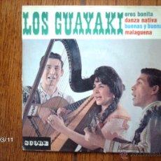 Discos de vinilo: LOS GUAYAKI - ERES BONITA + 3. Lote 45129737