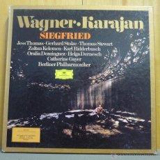 Discos de vinilo: WAGNER / KARAJAN - SIEGFRIED (SIGFRIDO) - BOX SET 5 LP'S DEUTSCHE GRAMMOPHON - ESPAÑA 1981. Lote 45140758