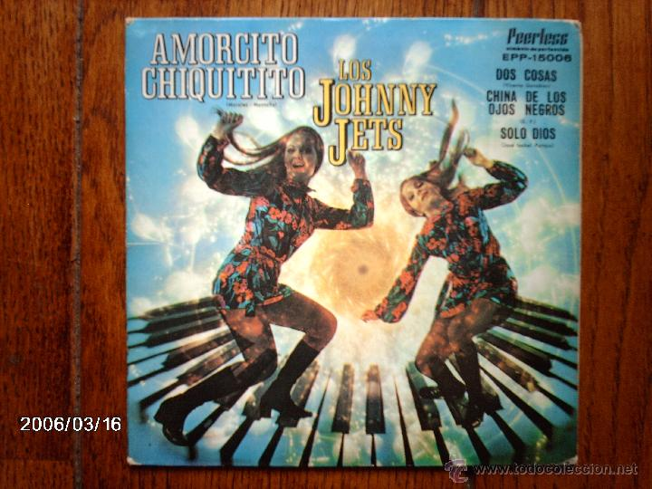 LOS JOHNNY JETS - AMORCITO CHIQUITITO + 3 - EDICIÓN MEXICANA (Música - Discos de Vinilo - EPs - Pop - Rock Extranjero de los 70)
