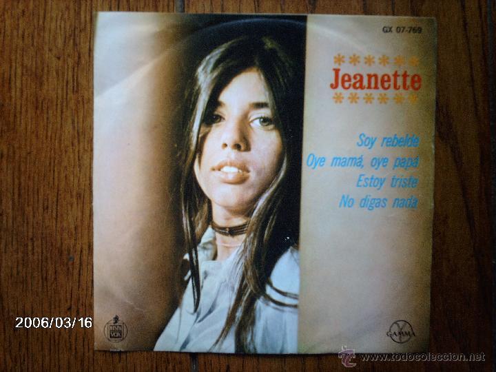 JEANETTE - SOY REBELDE + 3 - EDICIÓN MEXICANA (Música - Discos de Vinilo - EPs - Solistas Españoles de los 70 a la actualidad)