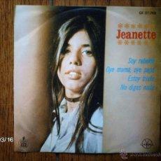 Discos de vinilo: JEANETTE - SOY REBELDE + 3 - EDICIÓN MEXICANA. Lote 45142387