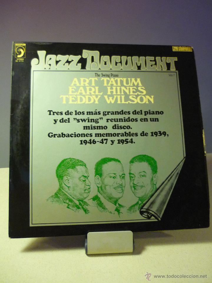 JAZZ DOCUMENT THE SWING PIANO ART TATUM, EARL HINES, TEDDY WILSON VOLUMEN 7 (Música - Discos - LP Vinilo - Jazz, Jazz-Rock, Blues y R&B)