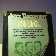 Discos de vinilo: JAZZ DOCUMENT THE SWING PIANO ART TATUM, EARL HINES, TEDDY WILSON VOLUMEN 7. Lote 45145898