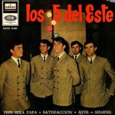 """Discos de vinilo: LOS 5 DEL ESTE - EP SINGLE 7"""" - EDIT ESPAÑA - BEATLES & ROLLING COVERS - SATISFACTION, YESTERDAY + 2. Lote 45149351"""