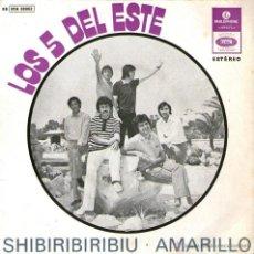 Discos de vinilo: LOS 5 DEL ESTE - EP SINGLE VINILO 7'' - EDITADO EN PORTUGAL - SHIBIRIBIRIBIU + 3 - PARLOPHONE. Lote 45149369