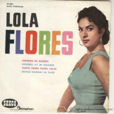 Discos de vinilo: LOLA FLORES EP SEECO DISCOPHON 1961 LIMOSNA DE AMORES + 3 . Lote 45158271