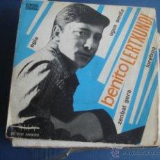 Disques de vinyle: BENITO LERTXUNDI EGIA / EGUN SENTIA / ZENBAT GERA / LARETXOA + ENCARTE. Lote 45167194