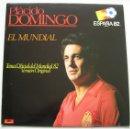 Discos de vinilo: PLACIDO DOMINGO: HIMNO MUNDIAL 82. MAXI-SINGLE POLYDOR. NUNCA ESCUCHADO. Lote 45169666