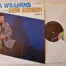 Discos de vinilo: HANK WILLIAMS AS SUNG BY DON GIBSON LP HICKORY 1971 USA. Lote 45173636