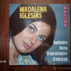 Discos de vinilo: MADALENA - SEPTIEMBRE + 3 . Lote 45187021