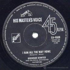 Discos de vinilo: BRENDAN BOWYER AND THE ROYAL SHOWBAND WATERFORD - I RAN ALL THE WAY HOME 1965 BEAT RNR ((ESCUCHA)). Lote 45190159