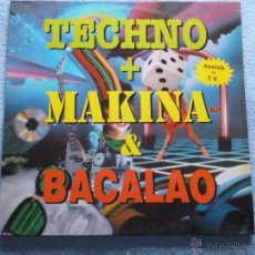Discos de vinilo: TECHNO MAKINA BACALAO,THE 12 INCH TECHNO COMPILATION DEL 92 2 LP. Lote 45193855