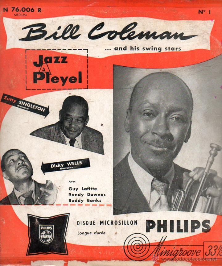 EP BILL COLEMAN AND HIS SWING STARS N°1 & N°2 JAZZ A PLEYEL MINIGROOVE PHILIPS (Música - Discos de Vinilo - EPs - Jazz, Jazz-Rock, Blues y R&B)
