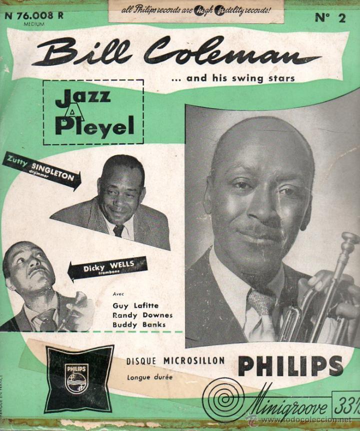 Discos de vinilo: EP Bill Coleman And His Swing Stars N°1 & N°2 Jazz A Pleyel Minigroove PHILIPS - Foto 3 - 45204469