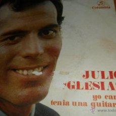Discos de vinilo: JULIO IGLESIAS - YO CANTO / TENIA UNA GUITARRA - 1969 . Lote 45205100