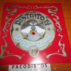 Discos de vinilo: DISTRITO 14 DIAS DE GLORIA SINGLE DE VINILO PROMOCIONAL CARATULA DESPLEGABLE CON PARTITURA 1992. Lote 45217013