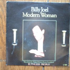 Discos de vinilo: BILLY JOEL - MODERN WOMAN + SLEEPING WITH THE TELEVISION ON. Lote 45224984