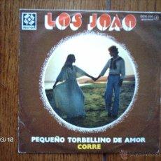 Discos de vinilo: LOS JOAO - PEQUEÑO TORBELLINO DE AMOR + CORRE . Lote 45227329