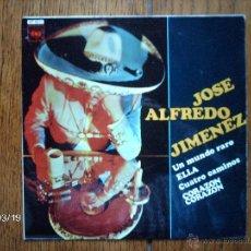 Discos de vinilo: JOSE ALFREDO JIMENEZ - UN MUNDO RARO + 3. Lote 45227424
