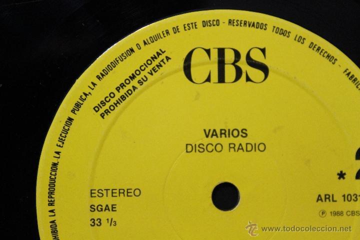 Discos de vinilo: DISCO RADIO VARIOS CBS DISCO PROMOCIONAL CBS SPAIN LP VINYL 1988 - Foto 3 - 45229352