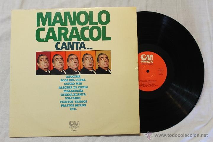 MANOLO CARACOL CANTA...LP VINILO GRAMUSIC SPAIN 1975 (Música - Discos - LP Vinilo - Flamenco, Canción española y Cuplé)