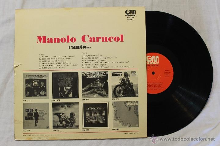 Discos de vinilo: MANOLO CARACOL CANTA...LP VINILO GRAMUSIC SPAIN 1975 - Foto 2 - 45229952