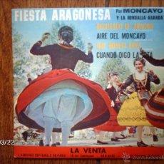 Discos de vinilo: MONCAYO Y LA RONDALLA ARANDA - RECUERDO DE ARAGÓN + 3 - EDICIÓN FRANCESA . Lote 45232938