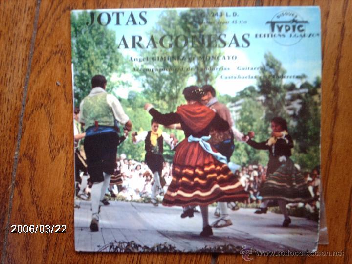 ANGEL GIMENEZ ET MONCAYO - JOTAS ARAGONESAS - FIESTA EN EL PUEBLO + 3 - EDICIÓN FRANCESA (Música - Discos de Vinilo - EPs - Étnicas y Músicas del Mundo)