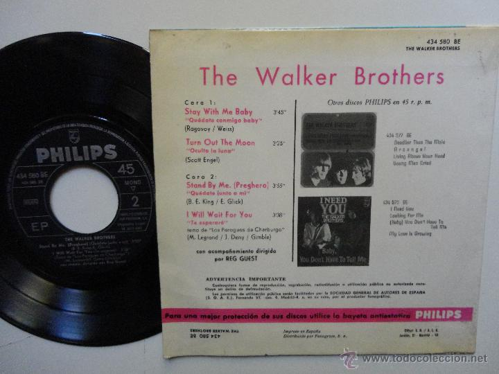 Discos de vinilo: THE WALKER BROTHERS- STAY WITH ME BABY +3- SPANISH EP 1967. - Foto 2 - 45239050