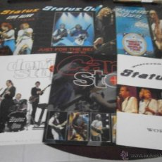 Discos de vinilo: STATUS QUO - 14 TOUR PROGRAMME - LIBROS GIRA - HEAVY TRAFFIC - ALIVE QUO - THIRSTY WORK - RIFFS. Lote 45240625