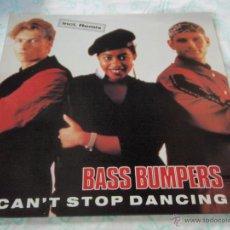 Discos de vinilo: BASS BUMPERS ( CAN'T STOP DANCING 4 VERSIONES ) USA MAXI33 ZYX RECORDS. Lote 45245100