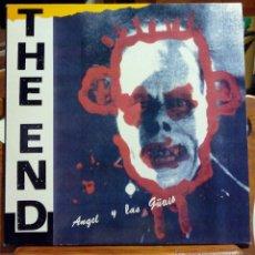 Discos de vinilo: ANGEL Y LAS GUAIS, THE END (INTERFERENCIAS 1988) LP - ALASKA JAIME STINUS - ENCARTE. Lote 45249608
