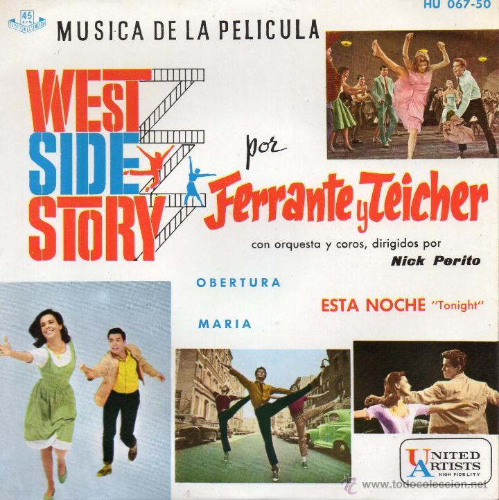 WEST SIDE STORY - FERRANTE Y TEICHER, EP, OBERTURA + 2, AÑO 1961 (Música - Discos de Vinilo - EPs - Bandas Sonoras y Actores)