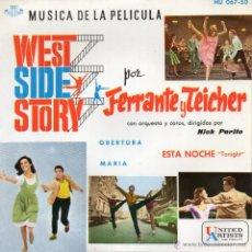 Discos de vinilo: WEST SIDE STORY - FERRANTE Y TEICHER, EP, OBERTURA + 2, AÑO 1961. Lote 45256757