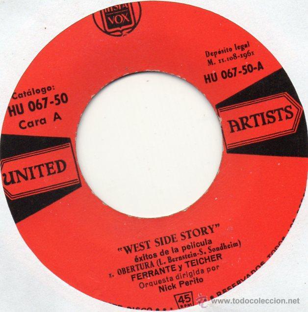 Discos de vinilo: WEST SIDE STORY - FERRANTE Y TEICHER, EP, OBERTURA + 2, AÑO 1961 - Foto 2 - 45256757